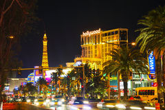 Las Vegas boulevard in the night Stock Photo