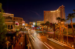 Las vegas boulevard at night Royalty Free Stock Photo