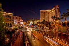 Las vegas boulevard at night Royalty Free Stock Photos
