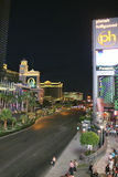 Las Vegas Boulevard by Night Stock Photography