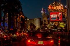 Las Vegas Boulevard by night Stock Image