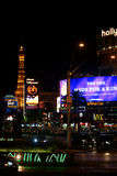 Las Vegas Boulevard at night Royalty Free Stock Images
