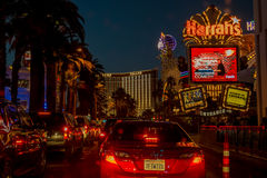 Las Vegas Boulevard by night Stock Image