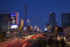 Las Vegas Boulevard på natten i Nevada på Juli 13, 2013 Royaltyfria Bilder