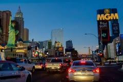 Las Vegas Boulevard par nuit Image stock