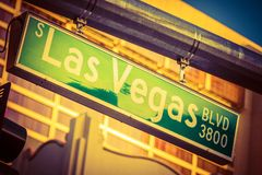 Las Vegas Boulevard Sign Stock Images