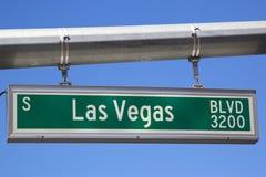 Las Vegas Boulevard sign Stock Image