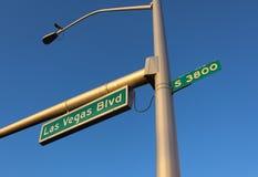 Las Vegas Boulevard Signage Stock Photography