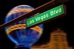 Las Vegas Boulevard street sign at night. Stock Photography
