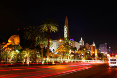 Las Vegas Boulevard Traffic Royalty Free Stock Photography