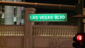 Las- Vegas Boulevardzeichen stock footage
