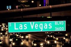 Las Vegas bulwaru znak uliczny Obraz Royalty Free