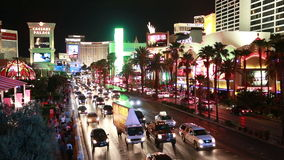 Las Vegas. Busy streets in Las Vegas at night