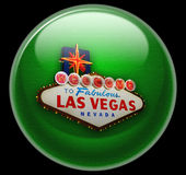 Las Vegas Button Royalty Free Stock Photos