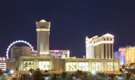 LAS VEGAS, NEVADA - Caesar`s Palace and The High Roller Wide View stock image