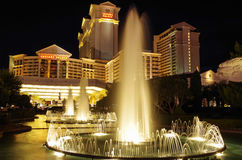 Las Vegas - Caesars Palace. Night view of the luxury Caesars Palace and his fountain Royalty Free Stock Image