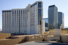 Las Vegas Casino architecture and rooftops. Royalty Free Stock Photo