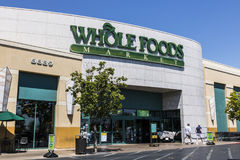 Las Vegas - cerca do julho de 2017: Mercado de Whole Foods As Amazonas anunciaram um acordo comprar Whole Foods para $13 7 bilhão Imagem de Stock