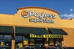 Las Vegas - cerca do julho de 2017: Venda de fechamento IV da loja de Payless ShoeSource Imagem de Stock