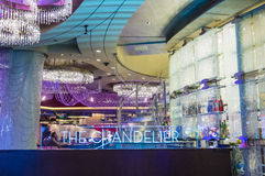 Las Vegas , Chandelier Bar Royalty Free Stock Images
