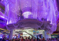 Las Vegas , Chandelier Bar Royalty Free Stock Photo