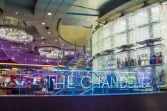 Las Vegas , Chandelier Bar Royalty Free Stock Image