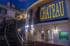 Las Vegas , Chateau Night club. LAS VEGAS - JUNE 17 : The Chateau Night club in Paris hotel in Las Vegas on June 17 2014. The Club have more than 45,000 sq ft on Stock Photography
