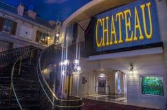 Las Vegas Chateaunattklubb Arkivbild