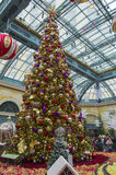 Las Vegas Christmas display stock photography