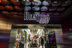 Las Vegas - Circa December 2016: The Beatles Shop at The Mirage. This is the only licensed Beatles retail store III Royalty Free Stock Photos