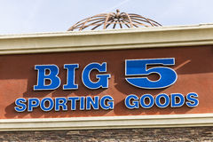 Las Vegas - Circa December 2016: Big 5 Sporting Goods Stip Mall Location. Big 5 Sporting Goods is a sporting goods retailer II Royalty Free Stock Photography