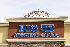 Las Vegas - Circa December 2016: Big 5 Sporting Goods Stip Mall Location. Big 5 Sporting Goods is a sporting goods retailer III Royalty Free Stock Photography