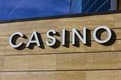 Las Vegas - Circa December 2016: Casino Entrance Sign at the M Resort I. Casino Entrance Sign at the M Resort I Royalty Free Stock Images