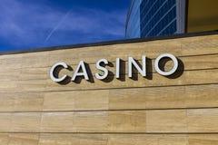 Las Vegas - Circa December 2016: Casino Entrance Sign at the M Resort II. Casino Entrance Sign at the M Resort II Royalty Free Stock Photos