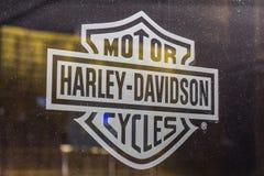 Las Vegas - Circa December 2016: Harley-Davidson Local Signage De Motorfietsen van Harley Davidson ` s zijn Gekend voor Hun Volge Royalty-vrije Stock Fotografie