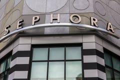 Las Vegas - circa dicembre 2016: Sephora Retail Store Sephora è un deposito dei cosmetici basato a Parigi, Francia III Fotografie Stock Libere da Diritti