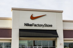 Las Vegas - circa diciembre de 2016: Ubicación II de Nike Factory Store Strip Mall Fotografía de archivo libre de regalías