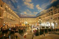 LAS VEGAS - CIRCA 2014: El hotel veneciano encendido CIRCA 2014 en Las Imagen de archivo