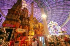 LAS VEGAS - CIRCA 2014: Het pretpark van de avonturenkoepel in Circus Stock Foto