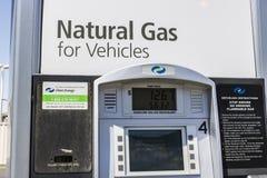 Las Vegas - Circa Juli 2017: De schone Energie voorziet Natuurlijk Benzinestation van brandstof De schone Energie verdeelt Sameng royalty-vrije stock afbeeldingen