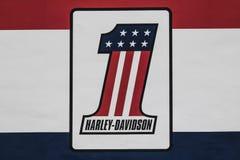 Las Vegas - Circa Juli 2017: Harley-Davidson Local Signage Harley Davidsons Motorcycles is Gekend voor Hun Loyal Following IX Royalty-vrije Stock Foto's