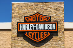 Las Vegas - Circa Juli 2017: Harley-Davidson Local Signage Harley Davidsons Motorcycles is Gekend voor Hun Loyal Following X Royalty-vrije Stock Foto's