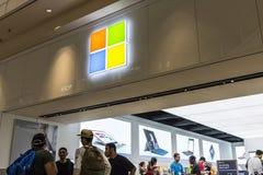 Las Vegas - Circa Juli 2017: Kleinhandels de Technologieopslag van Microsoft Microsoft ontwikkelt en vervaardigt Vensterssoftware stock fotografie