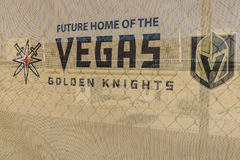 Las Vegas - Circa Juli 2017: Lättheten för övning Vegas för guld- riddare är den nya, riddarna det senaste NHL-utvidgningslaget I Royaltyfria Bilder