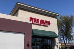Las Vegas - Circa Juli 2017: Restaurang för fem grabbar Fem grabbar är en snabb tillfällig restaurangkedja i USA och Kanada VI Arkivfoton