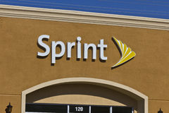 Las Vegas - Circa Juli 2016: Sprint Kleinhandels Draadloze Opslag De sprint is een Dochteronderneming van de Groep van Japan's  stock afbeeldingen