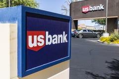 Las Vegas - Circa Juli 2017: U S Bank och lånfilial USA-banken rangordnas den 5th största banken i Förenta staternadroppen royaltyfria bilder