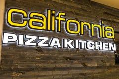 Las Vegas - Circa Juli 2017: Van de de Pizzakeuken van Californië het Toevallige Restaurant CPK dient innovatieve pizza's zoals B Royalty-vrije Stock Afbeelding