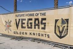 Las Vegas - circa julio de 2017: Instalación de la práctica de los caballeros de oro de Vegas la nueva, los caballeros es el últi foto de archivo