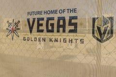 Las Vegas - circa julio de 2017: Instalación de la práctica de los caballeros de oro de Vegas la nueva, los caballeros es el últi imágenes de archivo libres de regalías